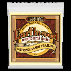 Ernie Ball 2061 Earthwood 5-String Banjo Frailing Loop End Acoustic