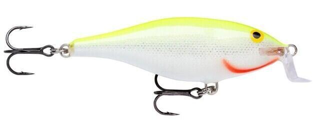 Rapala Shallow Shad Rap Silver Fluorescent Chartreuse 9 cm