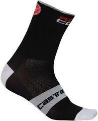 Castelli Rosso Corsa 13 čarape Black