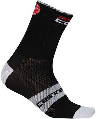 Castelli Rosso Corsa 9 čarape Black S/M