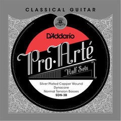 D'Addario SDH-3B Half Set Pro-Arte Dynacore Silver Plated Copper Hard Tension