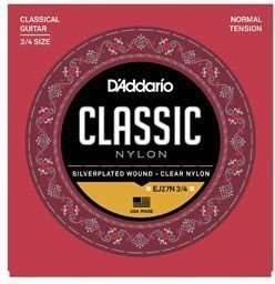 D'Addario EJ27N 3/4 Student Nylon Fractional Normal