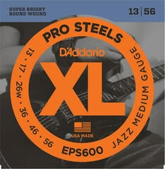 D'Addario EPS600 Set ProSteels Jazz Medium 13-56