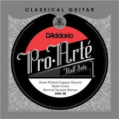 D'Addario SNN-3B Half Set Pro-Arte Silver Plated Copper Normal Tension