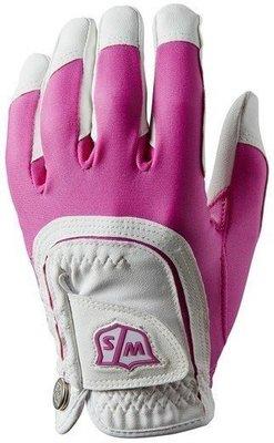Wilson Staff Fit-All Womens Golf Glove Pink/White LH