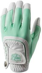 Wilson Staff Fit-All Womens Golf Glove Mint/White Left Hand for Right Handed Golfers