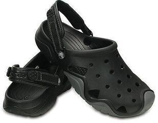 Crocs Mens Swiftwater Clog Black/Charcoal