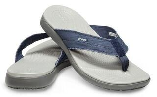 Crocs Men's Santa Cruz Canvas Flip Navy/Light Grey