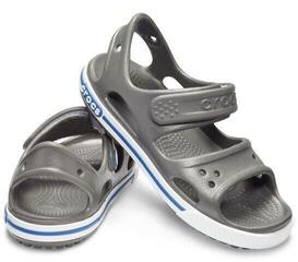 Crocs Kids Crocband II Sandal Slate Grey/Blue Jean