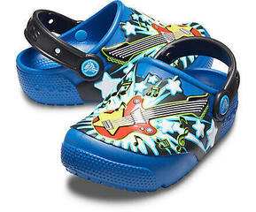 Crocs Fun Lab Guitar Lights Clog Blue Jean