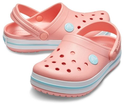 Crocs Kids' Crocband Clog Melon/Ice Blue 23-24
