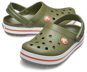 Crocs Kids Crocband Clog Army Green/Burnt Sienna