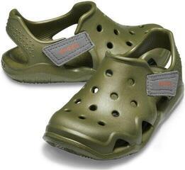 Crocs Kids' Swiftwater Wave Shoe Army Green