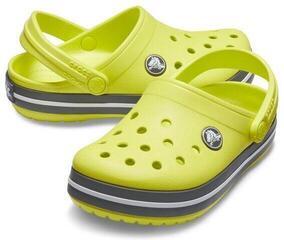 Crocs Kids' Crocband Clog Citrus/Slate Grey