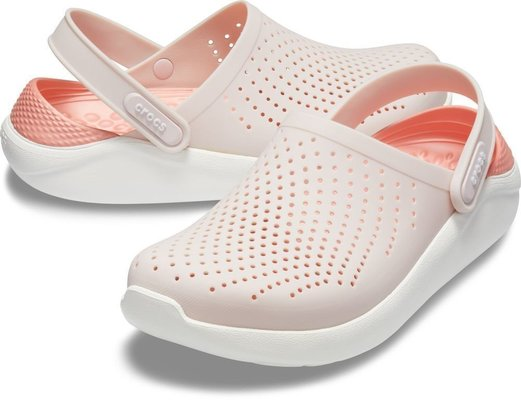 Crocs Lite Ride Clog Unisex Barely Pink/White 41-42