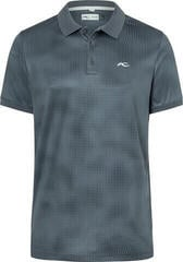 Kjus Spot Printed Mens Polo Shirt 2019 Steel Grey