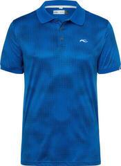 Kjus Spot Printed Mens Polo Shirt 2019 Pacific Blue