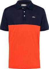 Kjus Luan CB Férfi Golfpóló Atlanta Blue/Blood Orange