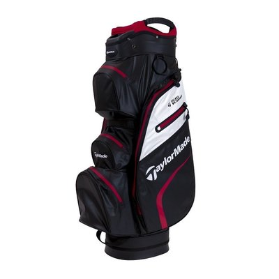 Taylormade Deluxe Waterproof Black/White/Red Cart Bag 2019