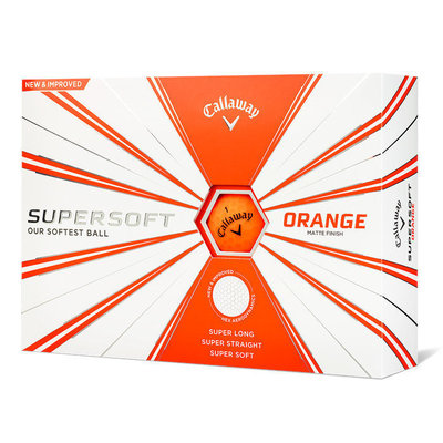 Callaway Supersoft Golf Balls 19 Matte Orange 12 Pack