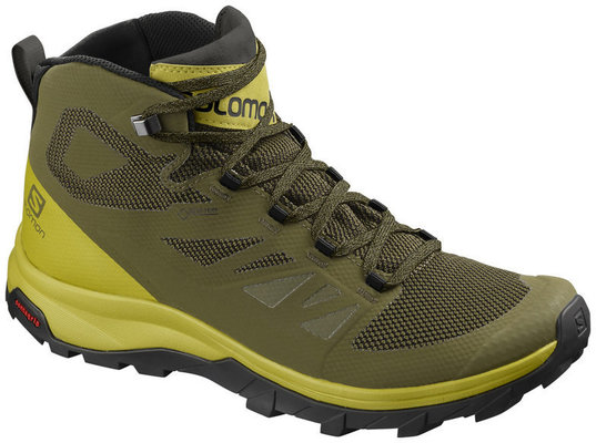 Salomon Outline Mid GTX Burnt Olive/Citrone 8,5