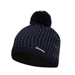 TaylorMade Ladies Bobble Beanie Navy 2019