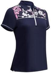 Callaway Floral Shoulder Print Camo Womens Polo Shirt Peacoat