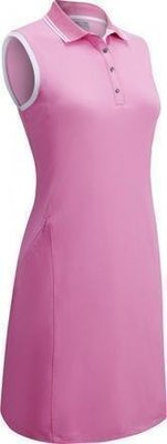Callaway Ribbed Tipping Womens Polo Dress Fuchsia Pink S