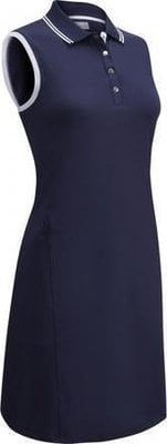 Callaway Ribbed Tipping Womens Polo Dress Peacoat M