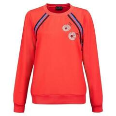Golfino Retro Sport Round Neck Womens Sweater Scarlet