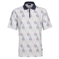 Golfino Sunny Winter Print Mens Polo Shirt White 52