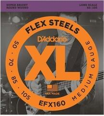 D'Addario EFX160 FlexSteels 50-105 Long Scale