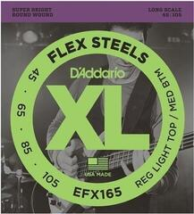 D'Addario EFX165 FlexSteels Custom Light 45-105