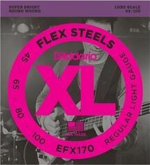 D'Addario EFX170 FlexSteels Bass 45-100
