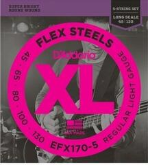 D'Addario EFX170-5 FlexSteels 5-String 45-130 Long Scale