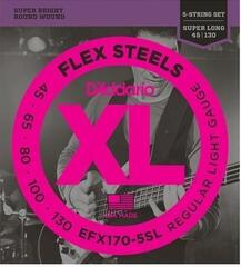 D'Addario EFX170-5SL FlexSteels 5-String 5-130 Super Long Scale