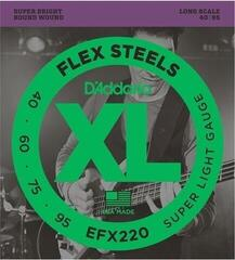 D'Addario EFX220 FlexSteels Super Light 40-95 Long Scale