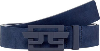J.Lindeberg Wing Brushed Leather Golf Belt Navy