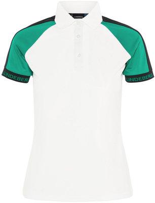 J.Lindeberg Perinne TX Jersey Womens Polo Shirt White XS