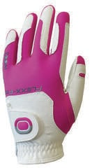 Zoom Gloves Weather Womens Golf Glove White/Fuchsia Left Hand for Right Handed Golfers