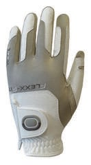 Zoom Gloves Weather Womens Golf Glove White/Sand Left Hand for Right Handed Golfers