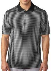 Adidas Adi Tournament Mens Polo Shirt Stripe Black/Grey M
