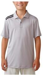 Adidas Climacool Engineered Striped Polo Golf Junior Stone 16Y