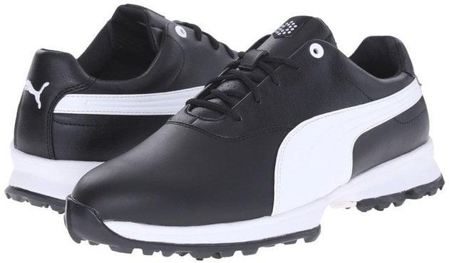 Puma Ace Leather Mens Golf Shoes White/Navy UK 9
