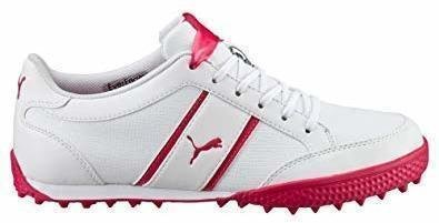 Puma Monolite Cat Womens Golf Shoes White/Rose Red UK 4,5