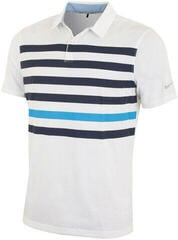 Nike Transition Dry Stripe Mens Polo Lucid Green/Navy/Silver XL