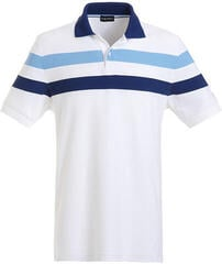 Golfino Hooped Férfi Golfpóló Optic White