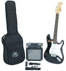 SX SE1 Electric Guitar Kit Black