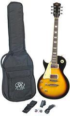 SX SE3 Left Handed Electric Guitar Kit Vintage Sunburst