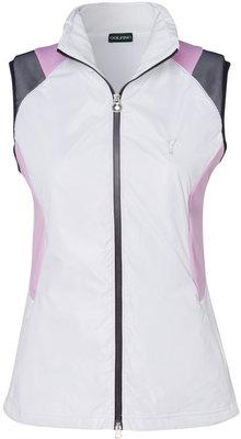 Golfino Stretch Techno Fleece Womens Vest Optic White 36